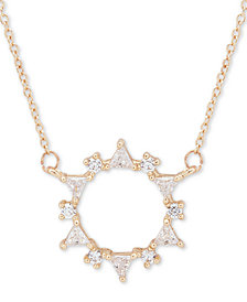 """lonna & lilly Gold-Tone Crystal Wreath Pendant Necklace, 16"""" + 3"""" extender"""