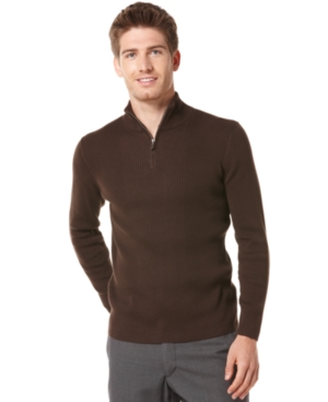Perry Ellis Sweater, Quarter Zip Holiday Sweater