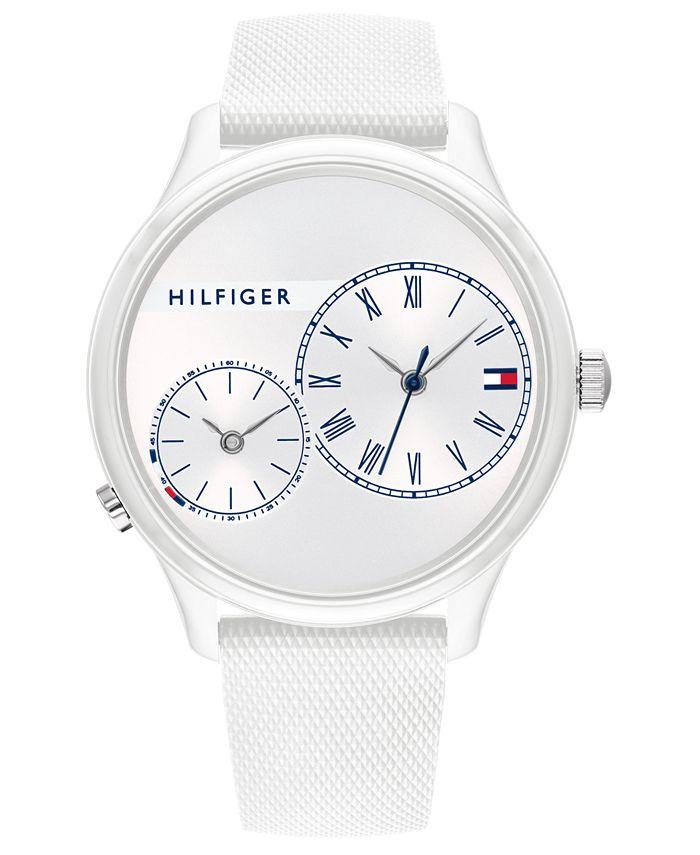 Tommy Hilfiger - Women's White Rubber Strap Watch 38mm