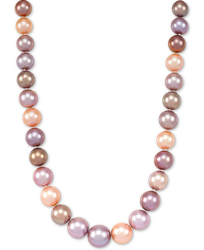 "Honora - Multicolor Cultured Ming Pearl (9-13mm) Graduated 18"" Collar Necklace"