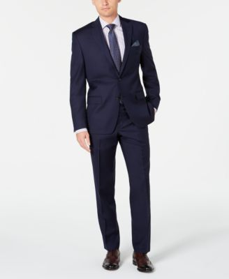 Men's Slim-Fit UltraFlex Stretch Navy Solid Suit Separate Jacket