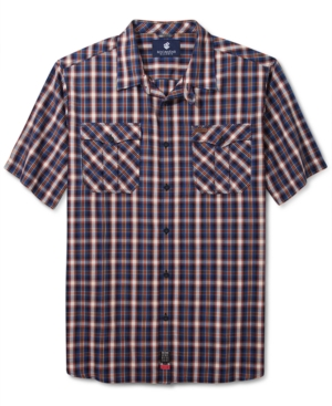 Rocawear Short Sleeve Shirt Fortress Plaid