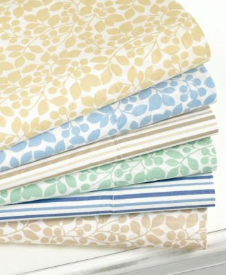 Martha Stewart Collection 300 Thread Count Printed Queen Sheet Set