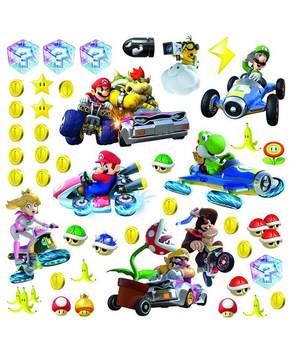 York Wallcoverings Ninetendo - Mario Kart 8 Peel and Stick Wall Decals