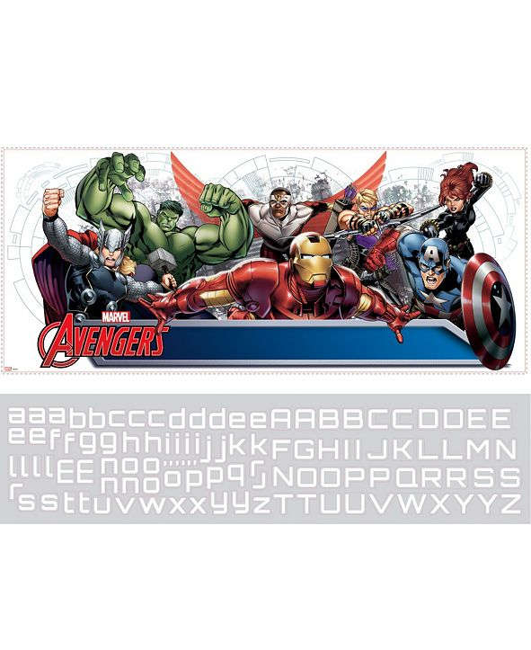 York Wallcoverings Avengers Assemble Personalization Headboard Peel and Stick Wall Decals