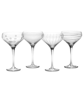 Mikasa Glassware, Set of 4 Cheers Champagne Saucers