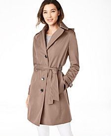 Calvin Klein Belted Water-Resistant Trench Coat, Created for Macys