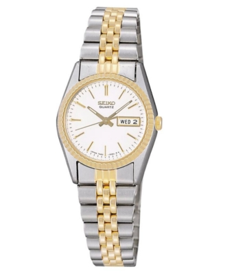 Seiko Watch, Women's Two Tone Stainless Steel Bracelet SWZ054