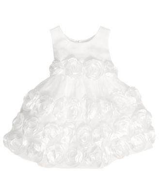 Bonnie Baby Dress Baby Girls Matte Satin Flower Girl Dress