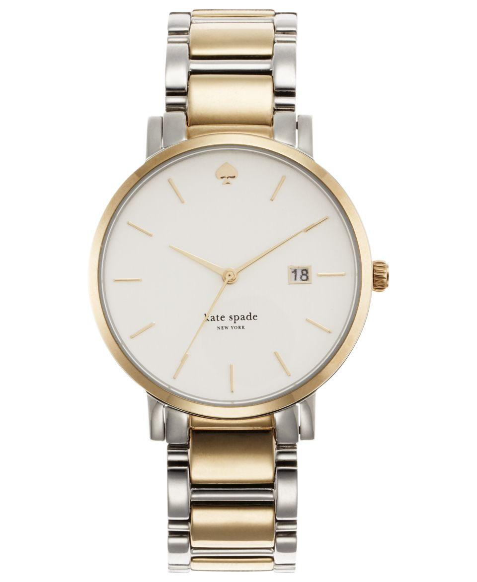 kate spade new york Watch, Womens Gramercy Two Tone Stainless Steel Bracelet 34mm 1YRU0005   Watches   Jewelry & Watches