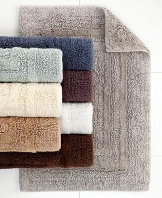 "Hotel Collection Bath Rugs, Cotton Reversible 21"" x 33"" Rug"