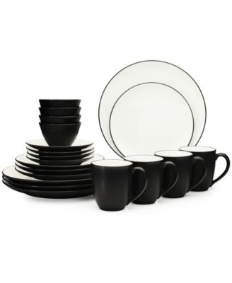 Noritake Dinnerware, Colorwave Graphite Coupe 20 Piece Set