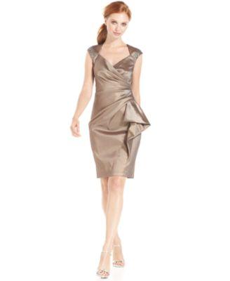 Maggy London Scuba Peplum Dress