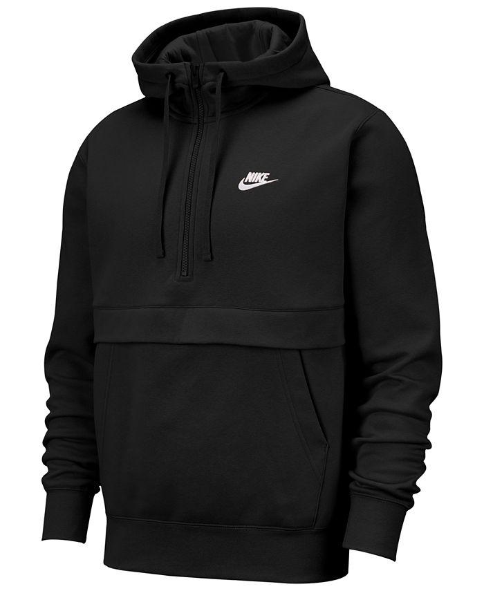 Nike - Men's Club Fleece Colorblocked Half-Zip Hoodie