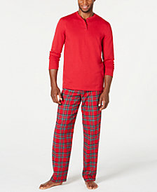 Matching Men's Mix It Brinkley Plaid Family Pajama Set, Created for Macy's