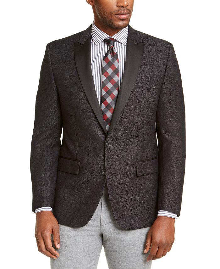 Ryan Seacrest Distinction - Men's Modern-Fit Charcoal/White Dinner Jacket
