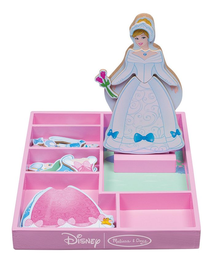 Melissa and Doug - Cinderella Wooden Magnetic Dress-Up