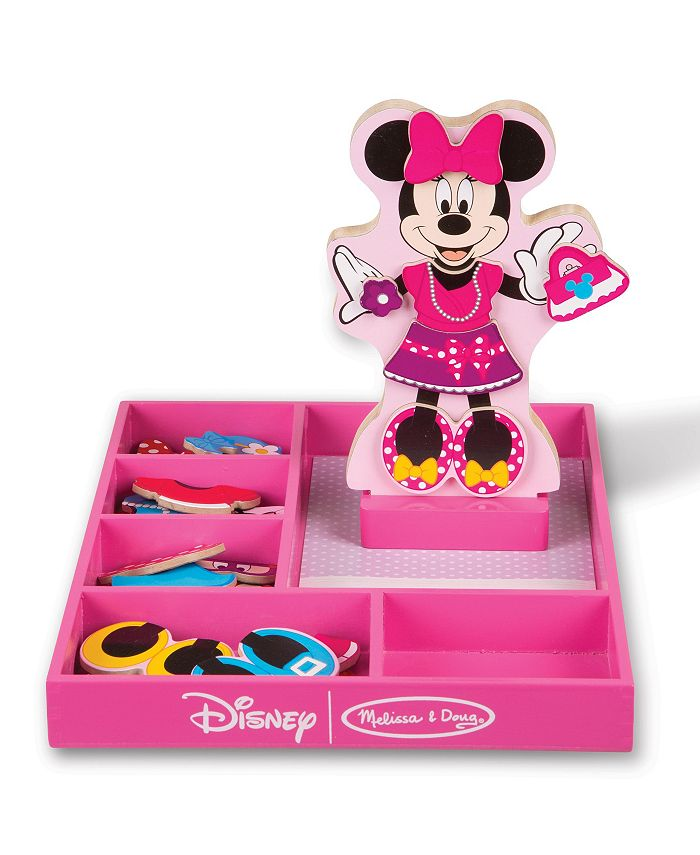 Melissa and Doug - Minnie Wooden Magnetic Dress-Up