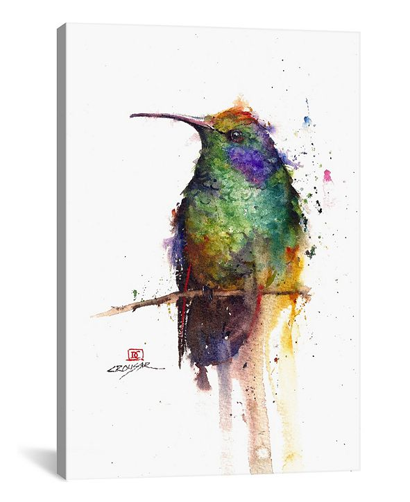 "iCanvas Green Bird by Dean Crouser Wrapped Canvas Print - 26"" x 18"""