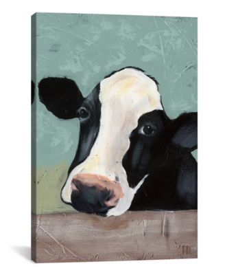 "Holstein Cow Iii by Jade Reynolds Wrapped Canvas Print - 26"" x 18"""