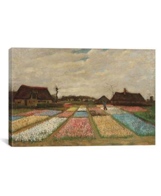 Tulpenfelder Tulip Fields by Vincent Van Gogh Wrapped Canvas Print - 40