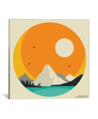 "Glacier National Park by Jazzberry Blue Wrapped Canvas Print - 18"" x 18"""