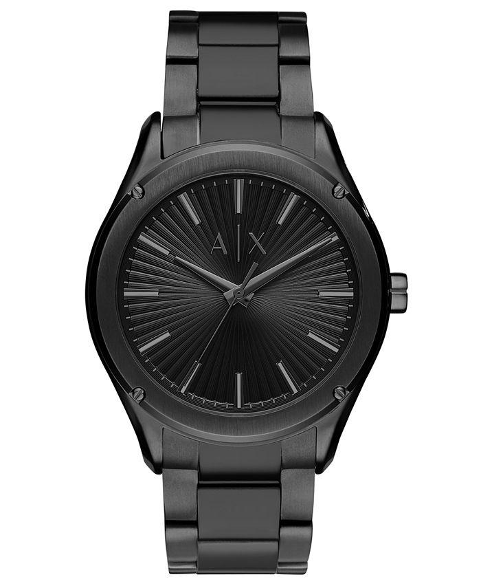 A|X Armani Exchange - Men's Fitz Black Stainless Steel Bracelet Watch 44mm