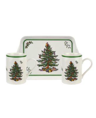 Christmas Tree Melamine Mug and Tray Set