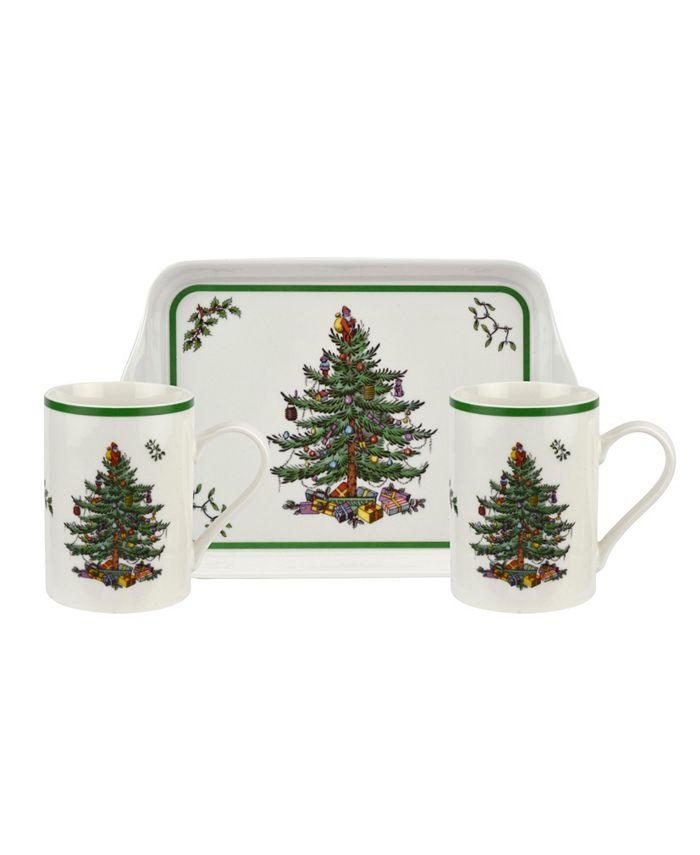 Spode - Christmas Tree Melamine Mug and Tray Set
