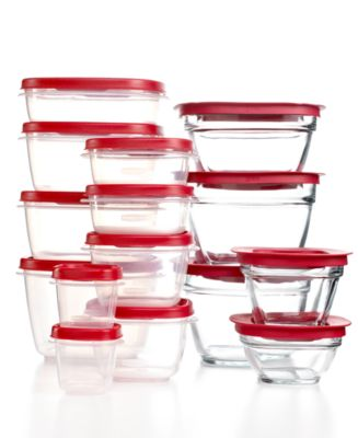 Rubbermaid Food Storage Containers, 30 Piece Set Easy Find Lids and Glass