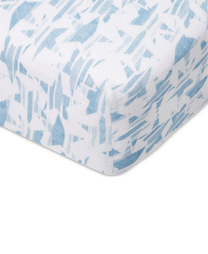 aden by aden + anais - Baby Boys Retro Printed Cotton Crib Sheet