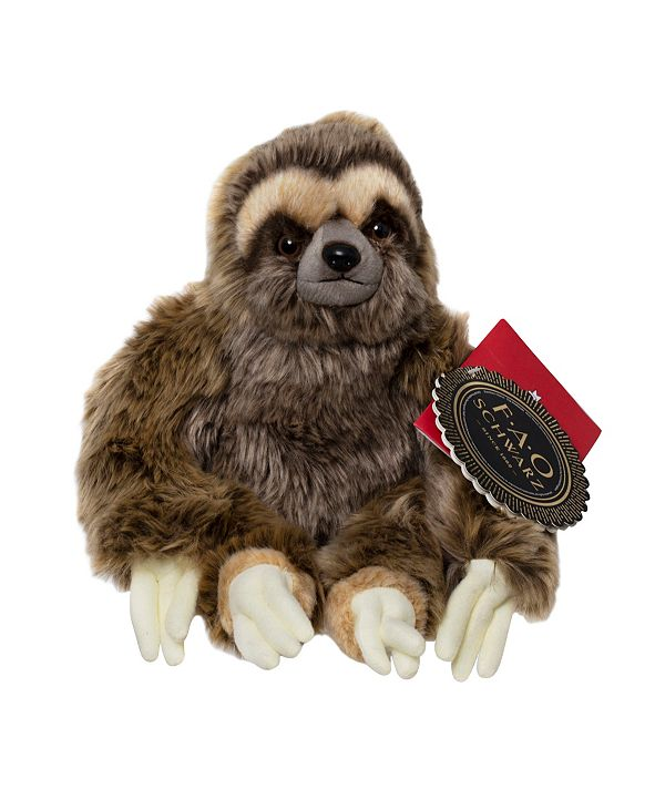 FAO Schwarz Toy Plush Sloth 10inch