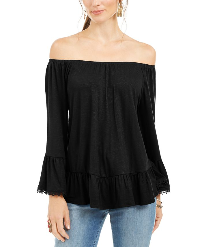 Style & Co - Off-The-Shoulder Bell-Sleeve Top