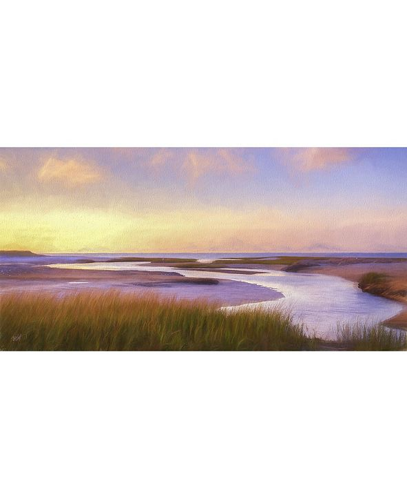 "West of the Wind Breaking Dawn Outdoor Wall Art, 48"" x 24"""