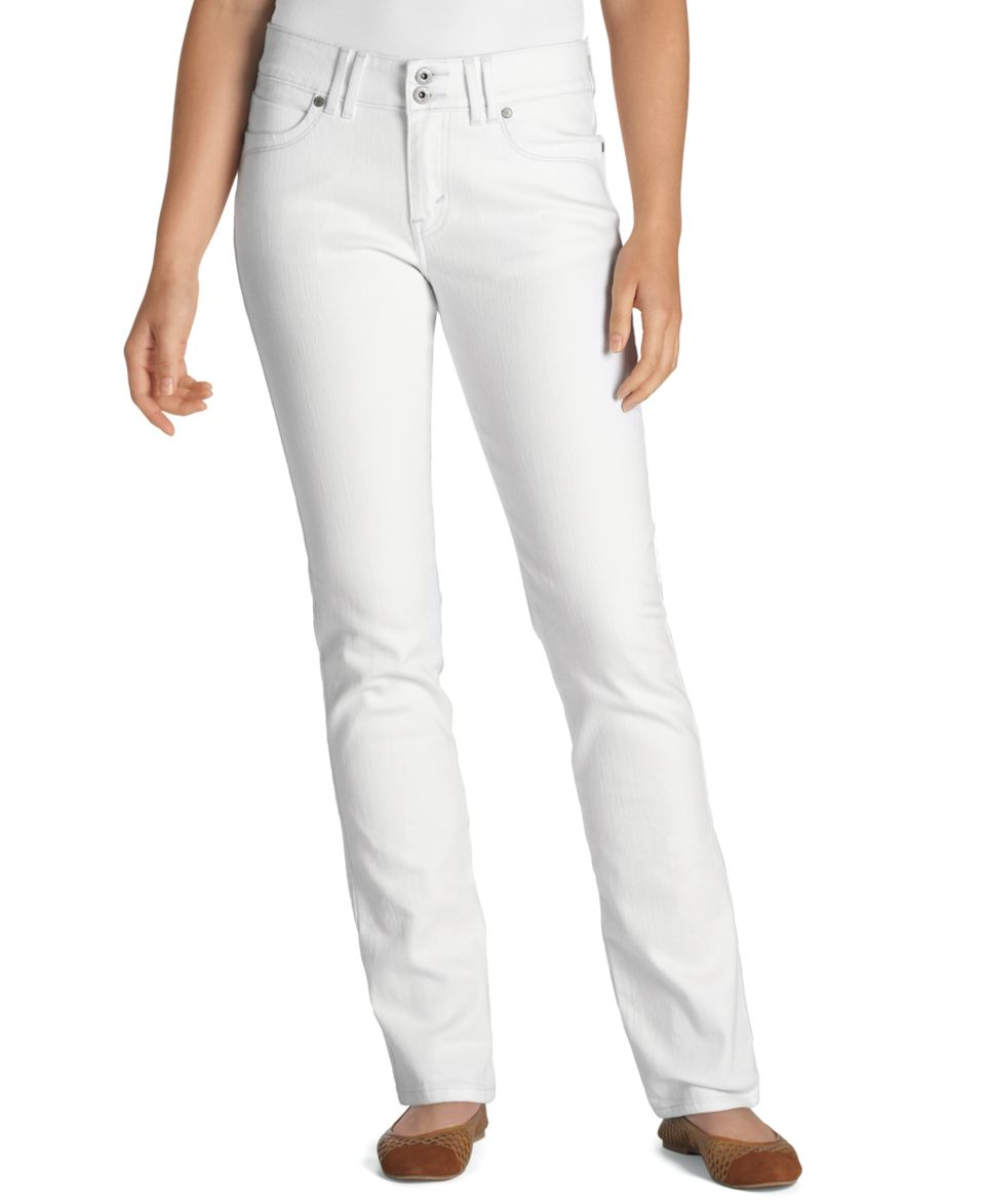 Lucky Brand Jeans, Straight Leg White Wash   Womens Jeans
