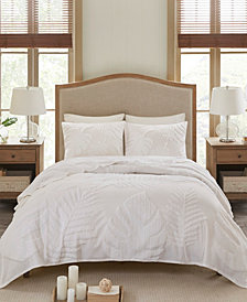 Madison Park Bahari King/California King 3-Pc. Tufted Cotton Chenille Palm Coverlet Set