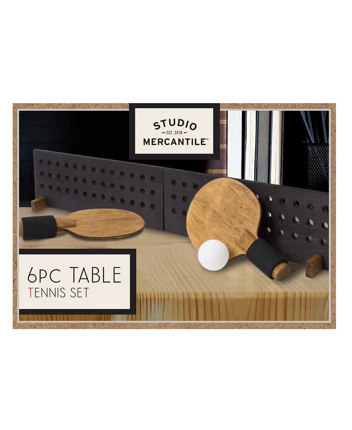 Studio Mercantile Game Desktop Table Tennis Wood