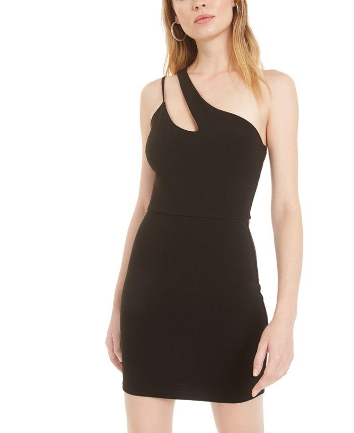 B Darlin - Juniors' One-Shoulder Cutout Sheath Dress
