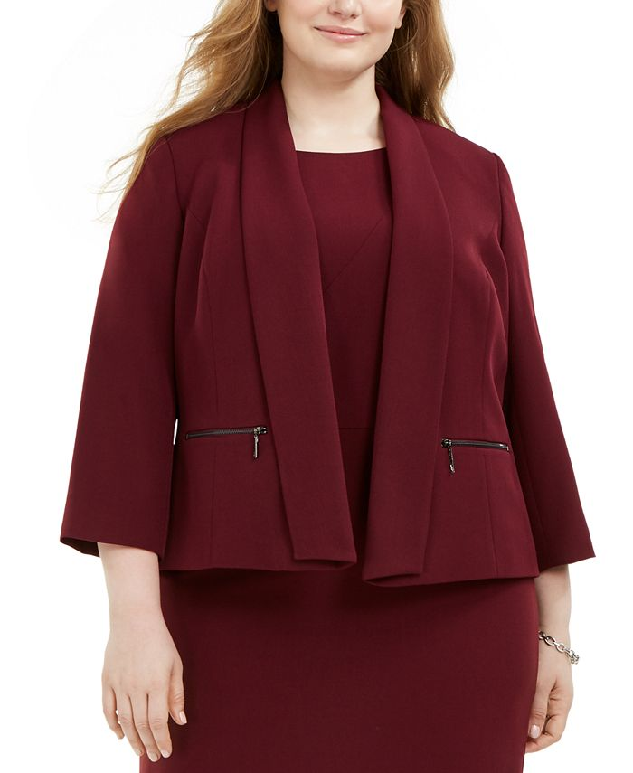 Kasper - Plus Size Shawl-Collar Jacket