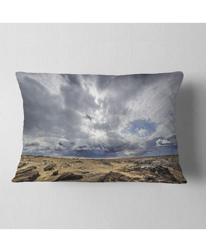 Design Art Designart Sky And Stones Under Dark Clouds Landscape Printed Throw Pillow 12 X 20 Reviews Decorative Throw Pillows Bed Bath Macy S