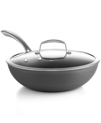 "Belgique Hard Anodized 11.5"" Covered Stir Fry"