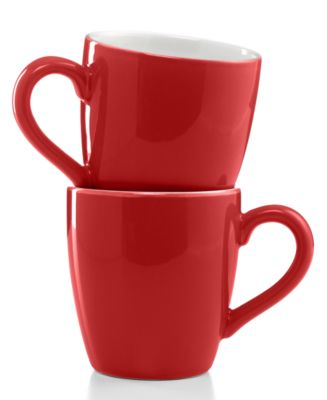 Certified International Drinkware, Set of 2 Solid Mugs