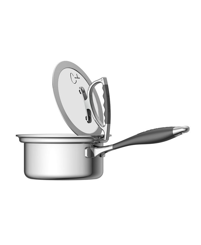 CookCraft - 1.5 Quart Sauce Pan with Glass Latch Lid