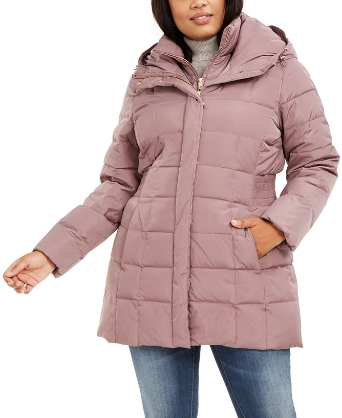 Cole Haan - Plus Size Hooded Down Puffer Coat