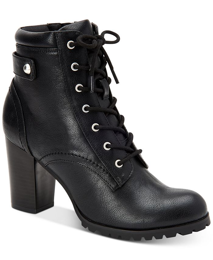 Style & Co - Cassyn Lace-Up Ankle Booties