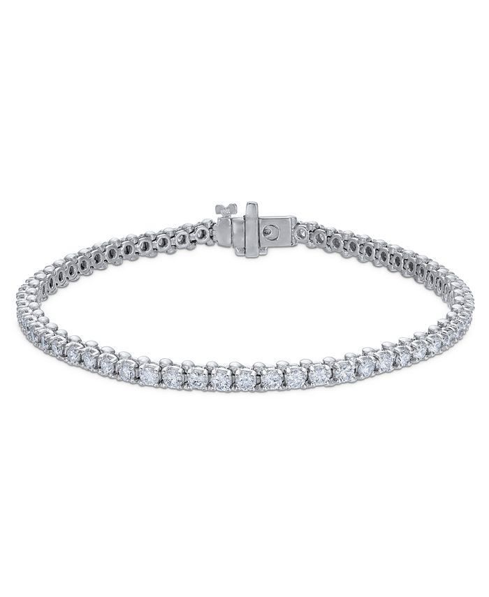 Macy's - Certified Diamond Tennis Bracelet (3 ct. t.w.) in 14k White Gold