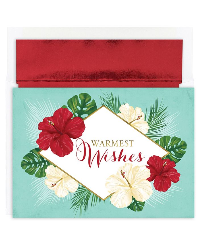 Masterpiece Studios - Masterpiece Tropical Floral Holiday Boxed Cards