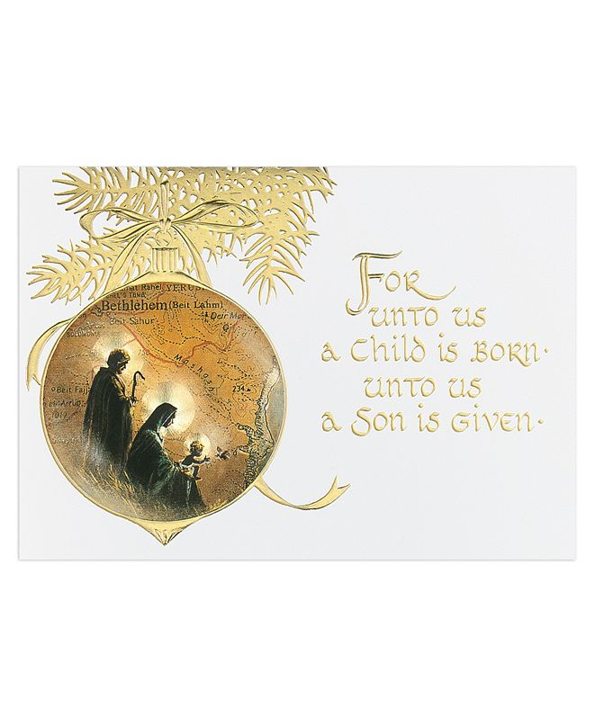 Masterpiece Cards Holy Family Ornaments Holiday Boxed Cards, 16 Cards and 16 Envelopes
