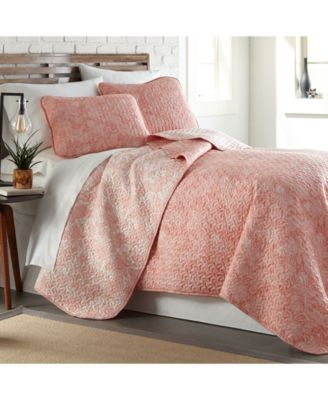 Boho Paisley Lightweight Reversible Quilt and Sham Set, King/California King