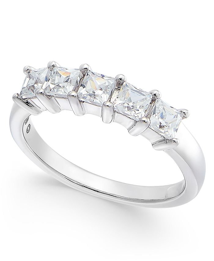 Macy's - Diamond 5-Stone Band (1 ct. t.w.) in 14k White Gold